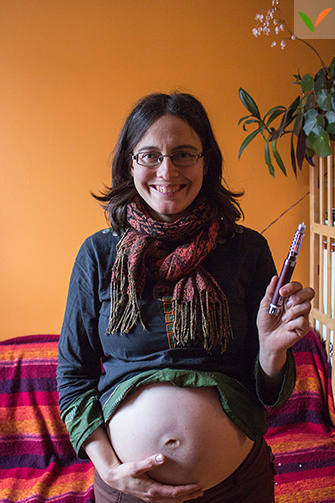 Isis avec son stylo à insuline