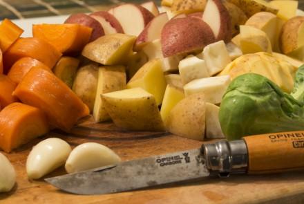 Bouilli de champignons aux légumes